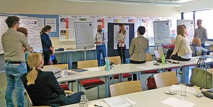 Beim Faculty Development Seminar erörterten TeilnehmerInnen aus Studiengängen der FHWien der WKW, wie die SDGs in Ausbildungsprogramme integriert werden können.