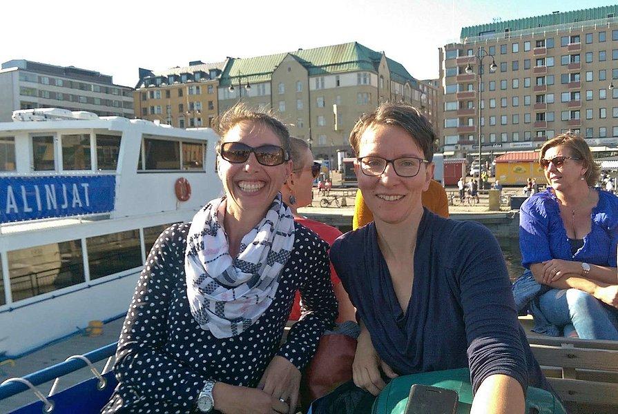 Claudia Szivatz-Spatt und Daniela Wagner nahmen an den Academic Adventures im finnischen Tampere teil. Foto: Claudia Szivatz-Spatt und Daniela Wagner