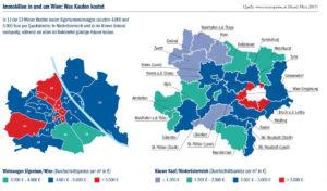 Grafik: Immobilien in und rund um Wien