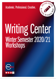 Writing Center Workshops Winter Semester 2020/21