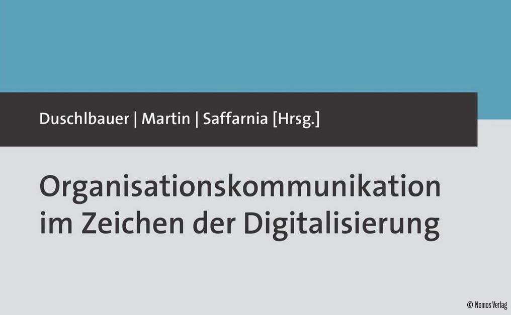 Buchcover Organisationskommunikation im Zeichen der Digitalisierung Mitherausgeberin Sieglinder MartinFHWien der WKW