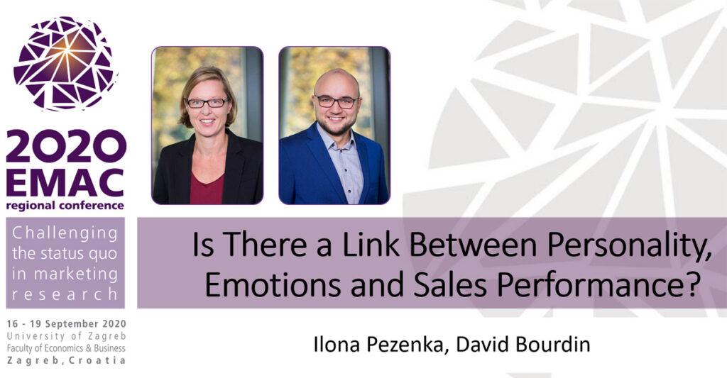 David Bourdin und Ilona Pezenka, FHWIen der WKW, mit ihrer Präsentation auf der EMAC 2020