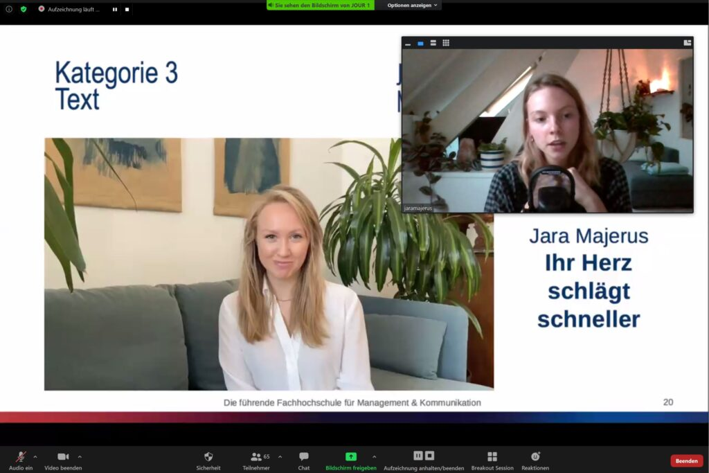 Journalismus-Nachwuchspreis: Kategorie Text an Jara Majerus