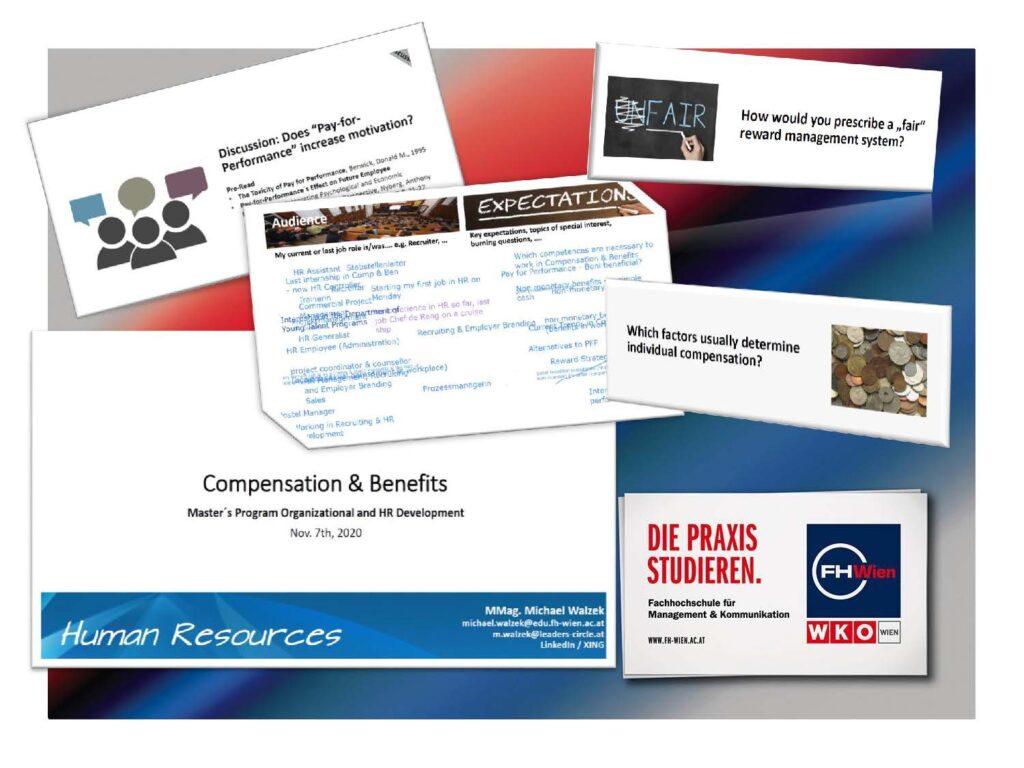 Gastvortrag zum Thema Compensation & Benefits