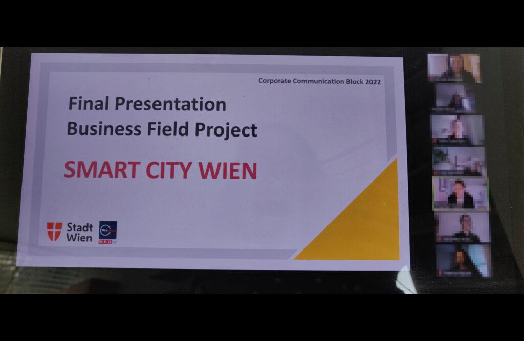 Praxisprojekt der FHWien der WKW mit Smart City Wien