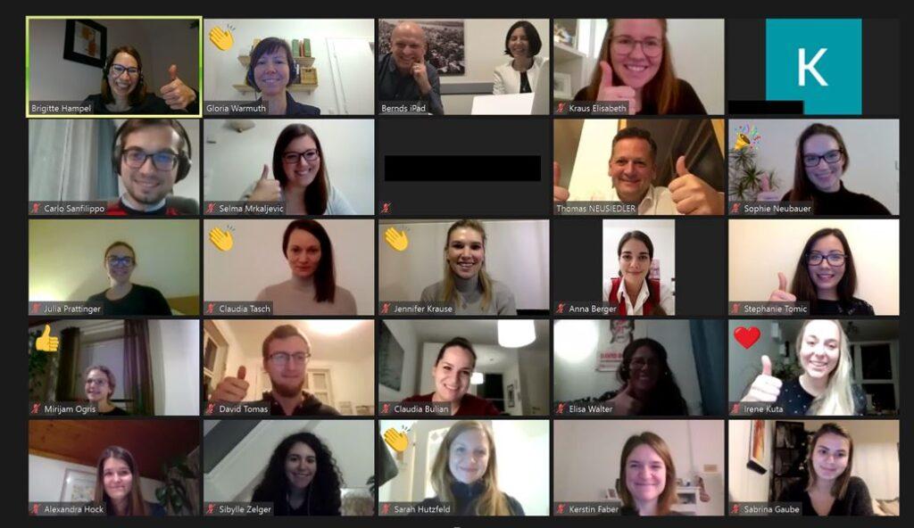 Virtuelle Abschlusspräsentation im Rahmen des Praxisprojekts für die Helvetia Versicherungen AG