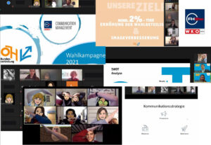 Eindrücke aus dem Praxisprojekt der FHWien der WKW mit der Österreichischen Hochschüler*innenschaft