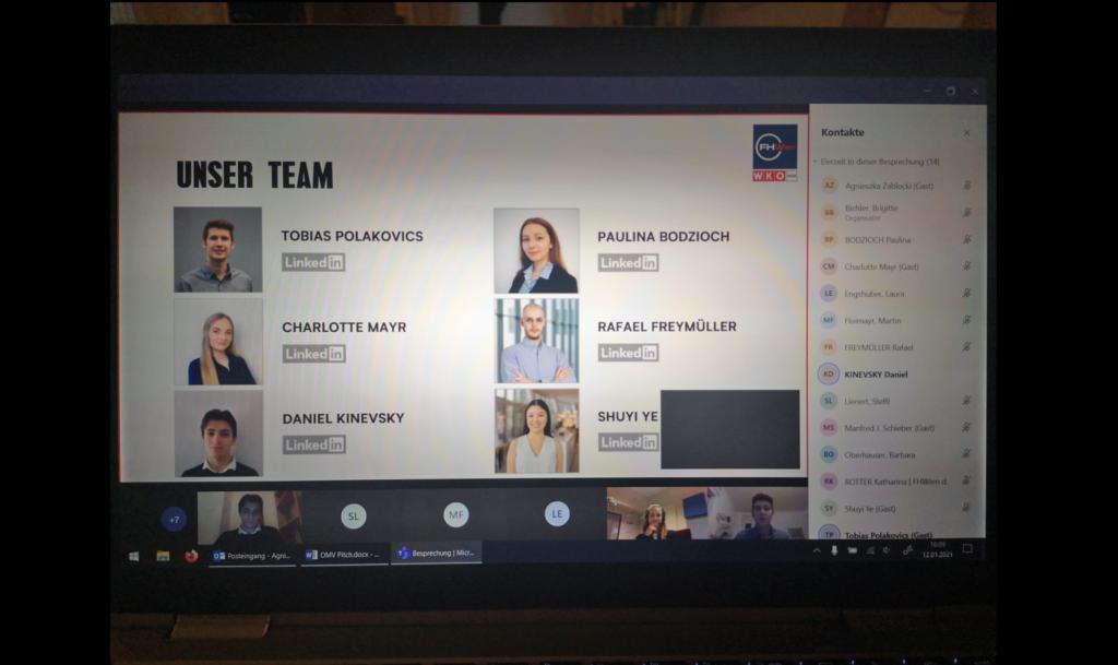 Team für den OMV-Pitch