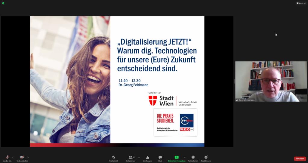 """""""Digitalisierung JETZT""""-Vortrag von Dr. Georg Feldmann"""