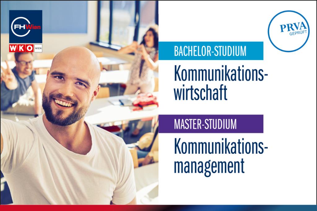Der PRVA prädikatisierte erneut die Studiengänge im Bereich Communication Management der FHWien der WKW.