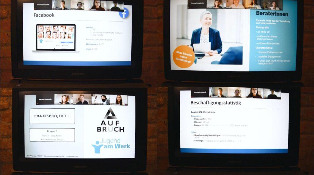 """Studierende der FHWien der WKW erarbeiten Kommunikationskonzepte """"Frauen in die Kfz-Technik"""" für Jugend am Werk"""