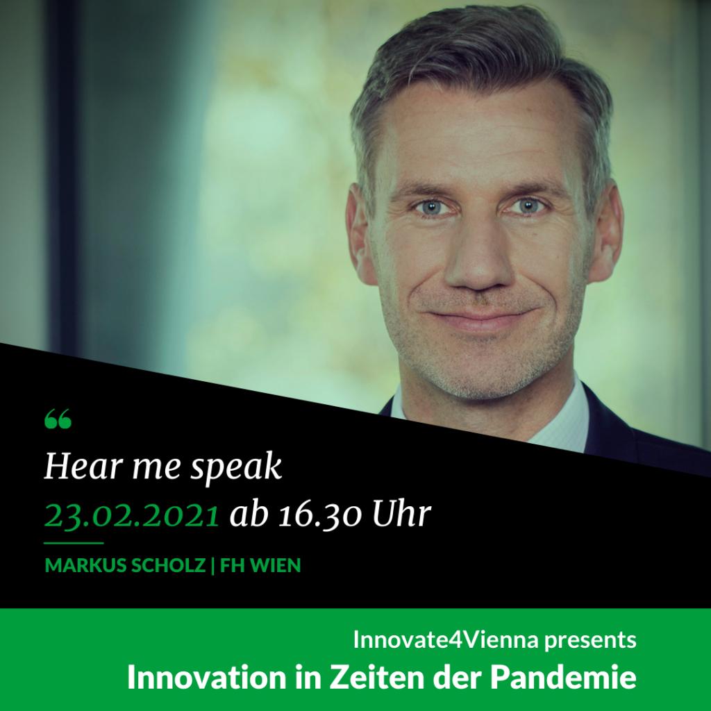 """Keynote Markus Scholz bei """"Innovation in Zeiten der Pandemie"""""""