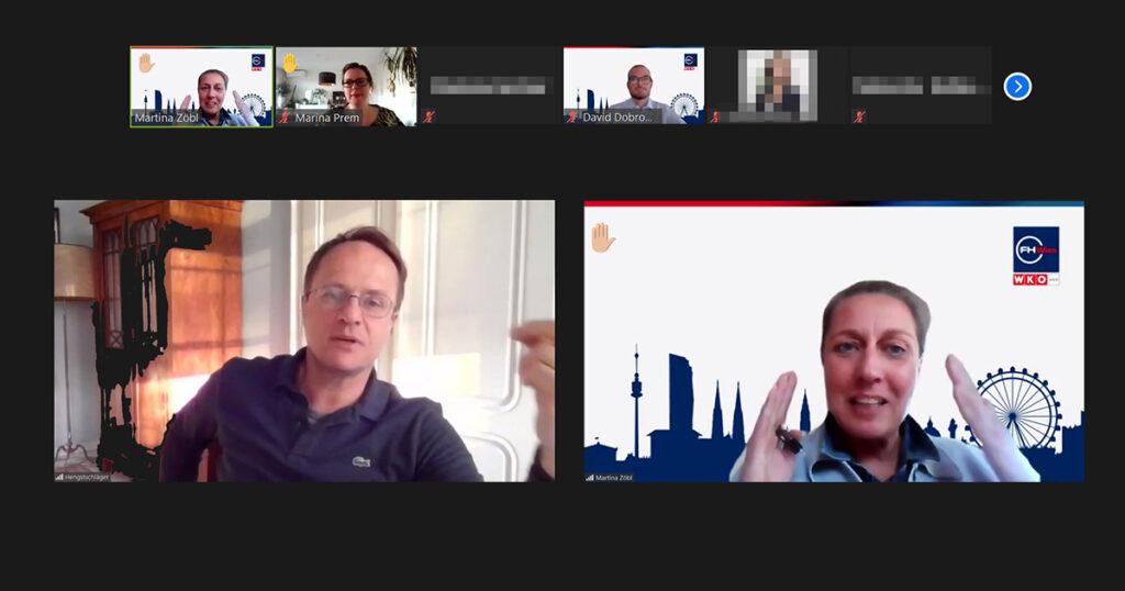 Markus Hengstschläger in Diskussion mit Martina Zöbl, FHWien der WKW