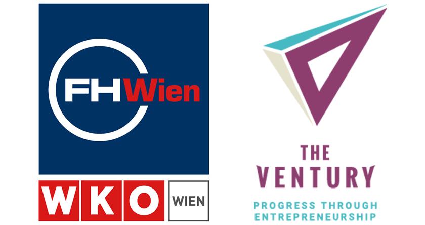 Logo FHWien der WKW und TheVentury