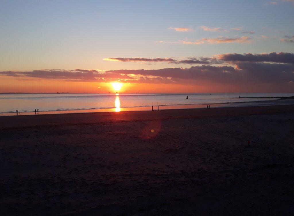 Sonnenuntergang in Vlissingen