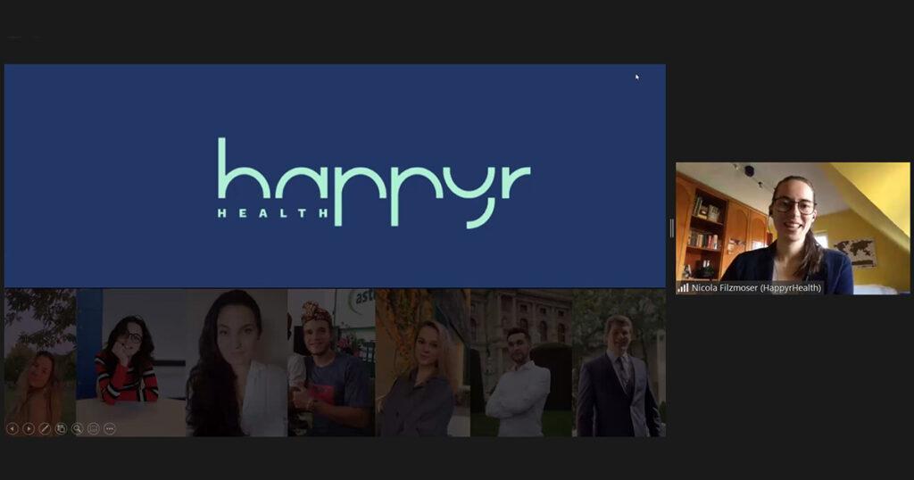 Digital Impact Night der FHWien der WKW: happyR Health