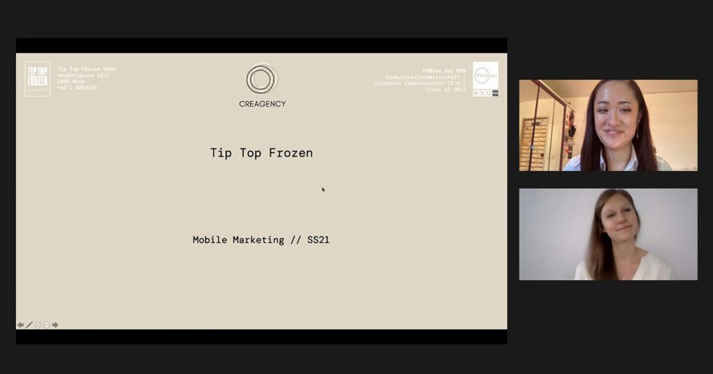 Digital Impact Night der FHWien der WKW: Tip Top Frozen