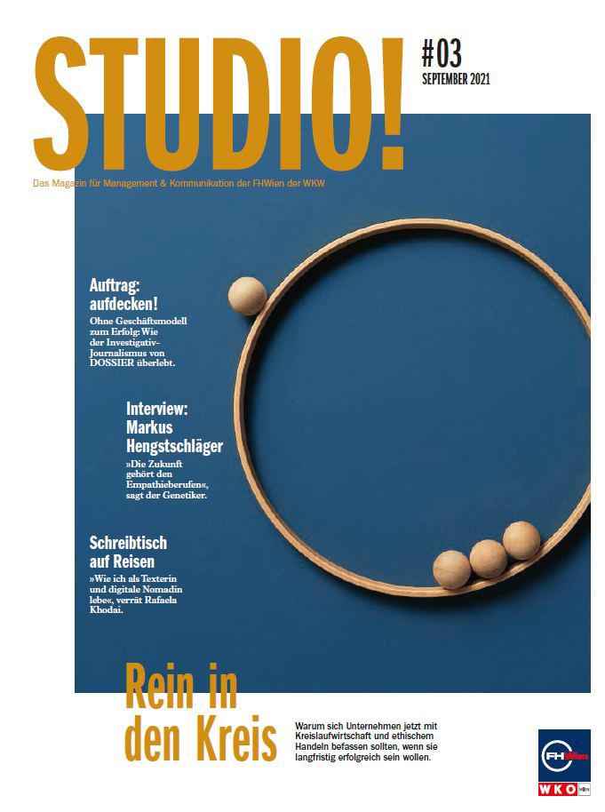 STUDIO! Ausgabe 3/2021 Cover