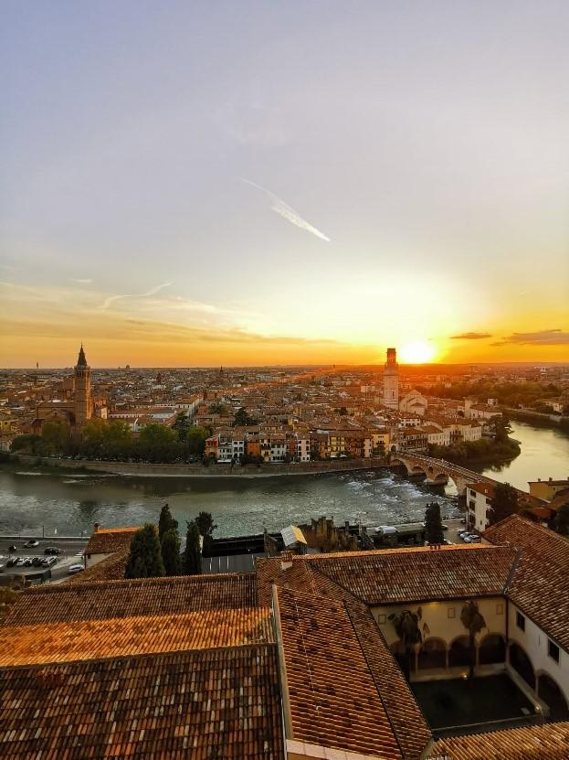 Sonnenuntergang über Verona